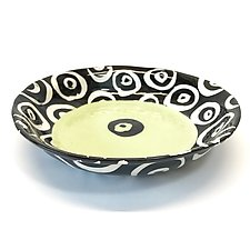 Pasta Bowl in Bright Green with Donut Pattern by Matthew A. Yanchuk (Ceramic Bowl)