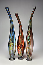 Smoky Mountain Breeze I by Victor Chiarizia (Art Glass Sculpture)