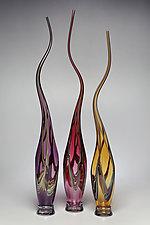 Swans Set II by Victor Chiarizia (Art Glass Sculpture)