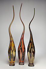 Swans Set VI by Victor Chiarizia (Art Glass Sculpture)