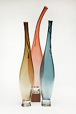 La Brezza - Summer Breeze in Transparent Colors by Victor Chiarizia (Art Glass Sculpture)