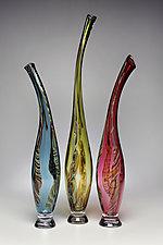 Smoky Mountain Breeze II by Victor Chiarizia (Art Glass Sculpture)