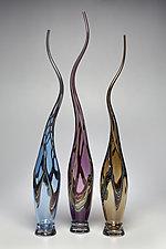 Swans Set IV by Victor Chiarizia (Art Glass Sculpture)
