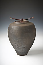 Smoke Fired Series III - Large Jar by Carol Green (Ceramic Vessel)