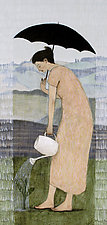 Gardening in the Rain II by Brian Kershisnik (Giclee Print)