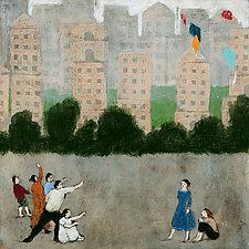 Five Kites by Brian Kershisnik (Giclée Print)