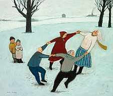 Winter Dancing by Brian Kershisnik (Giclee Print)