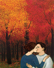 Lovers in the Fall by Brian Kershisnik (Giclee Print)
