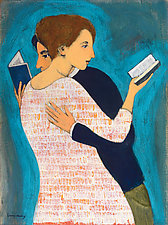 Lovers Reading by Brian Kershisnik (Giclee Print)