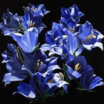 Ultra Blue Bells by Barbara Buer (Giclee Print)