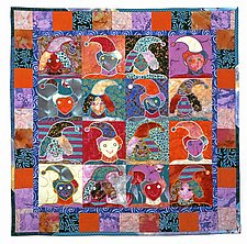 Elf Quilt by Therese May (Fiber Wall Hanging)