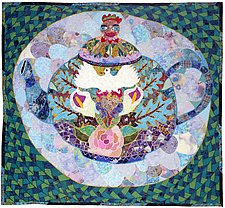 Mandala Tea Pot by Therese May (Fiber Wall Hanging)