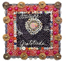 Attitude of Gratitude by Therese May (Fiber Wall Hanging)
