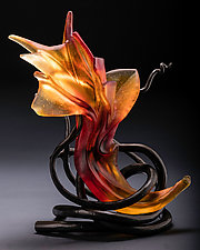 Ikebana 21 by Brian Russell (Art Glass Sculpture)
