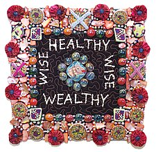 Healthy Wealthy Wise by Therese May (Fiber Wall Art)