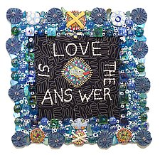 Love is the Answer by Therese May (Fiber Wall Art)