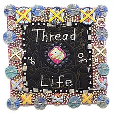 Thread of Life 2 by Therese May (Fiber Wall Art)