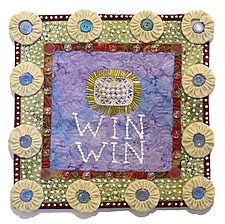 Win Win by Therese May (Fiber Wall Hanging)