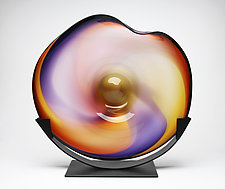 Sunset Cradle by Janet Nicholson and Rick Nicholson (Art Glass Sculpture)