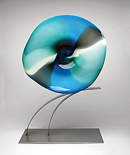 The Blues Volo by Janet Nicholson and Rick Nicholson (Art Glass Sculpture)