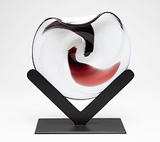 V by Janet Nicholson and Rick Nicholson (Art Glass Sculpture)