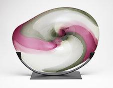 Cloud Forest Cradle by Janet Nicholson and Rick Nicholson (Art Glass Sculpture)