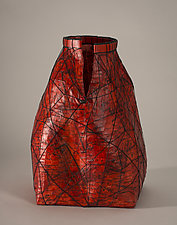 Scarlet Woman by Jackie Abrams (Fiber Sculpture)
