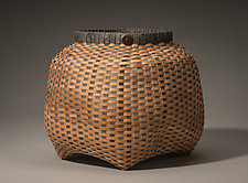 Copper Cathead Basket by Jackie Abrams (Fiber Basket)