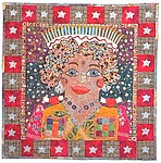 Birthday Quilt Goddess by Therese May (Fiber Wall Hanging)