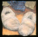 (foot) - fuzzies by Karen Urbanek (Fiber Wall Hanging)