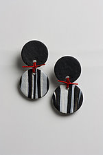 Red String Earring by Klara Borbas (Polymer Clay Earrings)