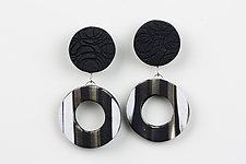 Nikki Earring in Black by Klara Borbas (Polymer Clay Earrings)