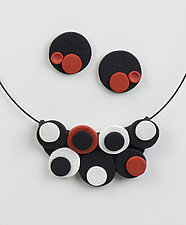 Amy Red Collection by Klara Borbas (Polymer Clay Jewelry)
