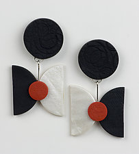 Ginger Earrings by Klara Borbas (Polymer Clay Earrings)