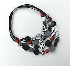 Granada Four Strand by Klara Borbas (Polymer Clay Necklace)