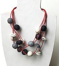 Rio Five Strand Necklace by Klara Borbas (Polymer Clay Necklace)