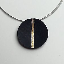 White and Gold Pendant by Klara Borbas (Polymer Clay Necklace)
