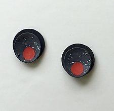 Red Dot Earrings by Klara Borbas (Polymer Clay Earrings)