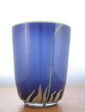 Deep Blue Deep Bowl by Richard S. Jones (Art Glass Vase)