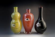 Sakura Vases by Richard S. Jones (Art Glass Vases)