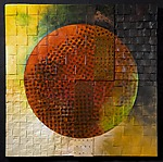 Solar Triptych by David Paul Bacharach (Metal Wall Sculpture)
