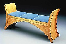 Water Bench by Jamie Robertson (Wood Bench)