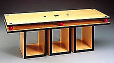 Two Tiered Coffee Table by David Kiernan (Wood Coffee Table)