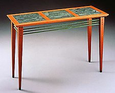 Marble Top Console by David Kiernan (Wood Console Table)