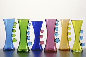 Cooling Tower Vases: John Chiles: Art Glass Vases - Artful Home :  blown glass glass cooling glass artists