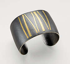 Ancient Steps by Lisa Ceccorulli (Silver & Gold Cuff)