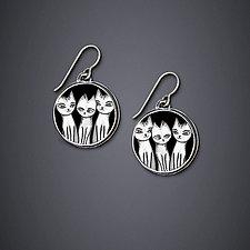 Trio Earrings by Dawn Estrin (Silver Earrings)