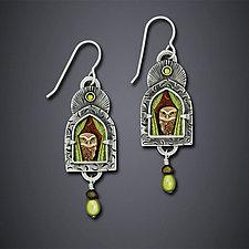 Wise Old Owl Earrings by Dawn Estrin (Silver Earrings)