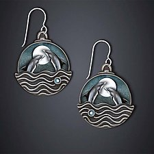 Dancing Dolphin Earrings by Dawn Estrin (Silver Earrings)