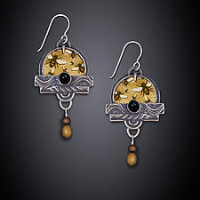 Buzzing Bees Earrings by Dawn Estrin (Silver Earrings)